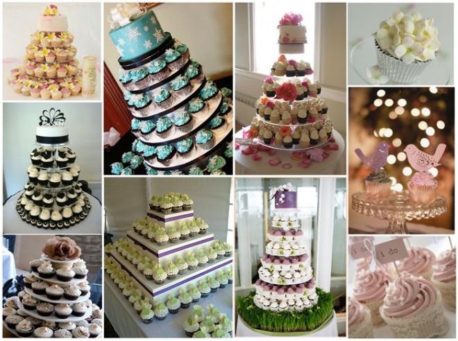 Свадебный торт или капкейки?