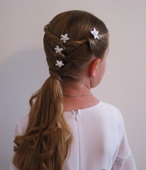 Причёска на выпускной на длинные волосы девочке своими руками
