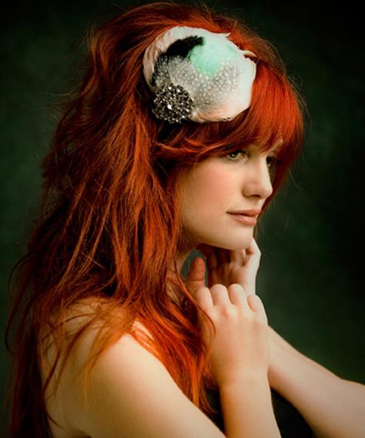 Янтарный шарм! Стильные свадебные прически и украшения для рыжих волос