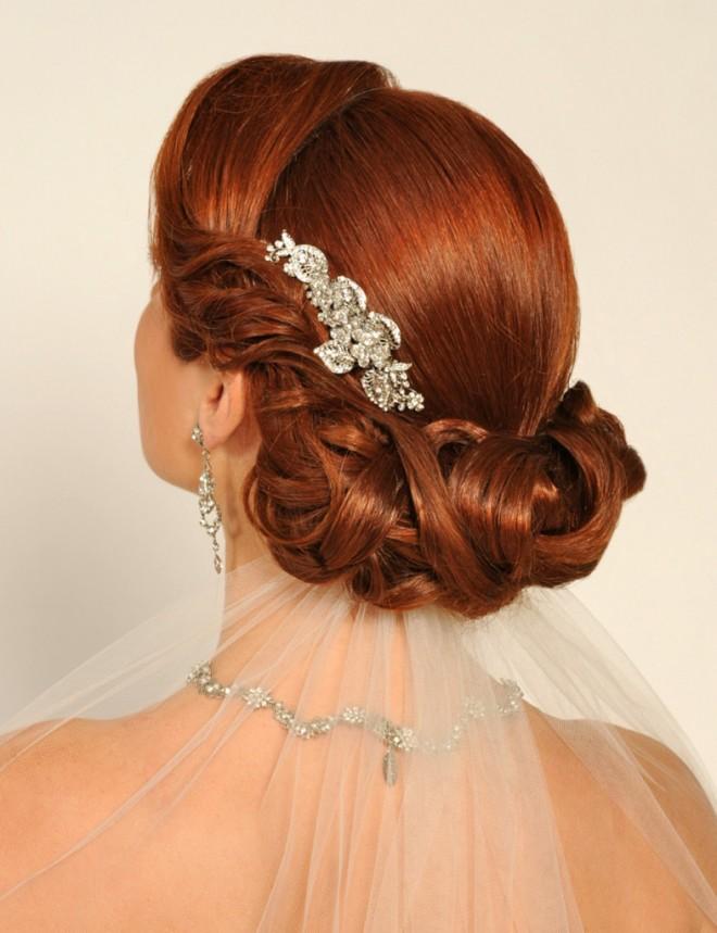 Роскошь длинных волос для свадебной укладки