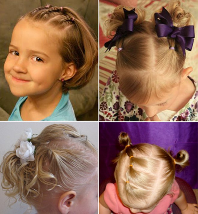 Прически на девочек среднего размера волос