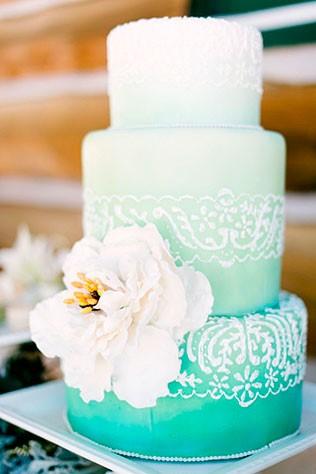 Его Величество Свадебный Торт! Или изысканный стиль омбре