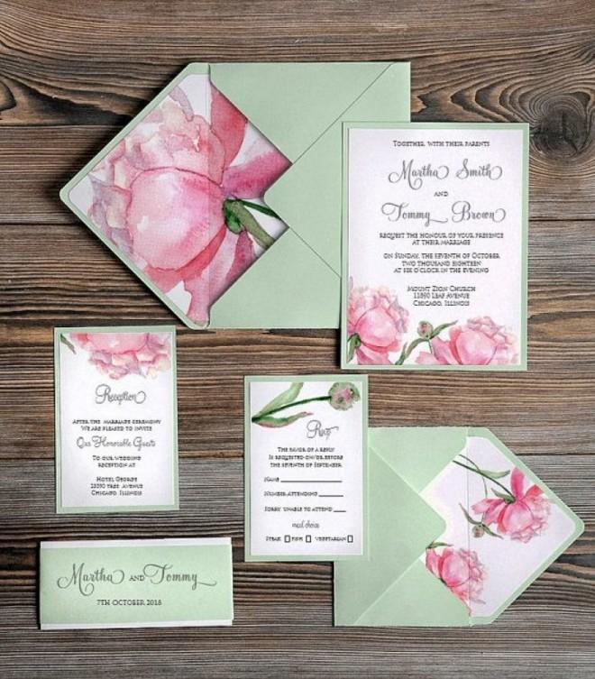 Красивое оформление свадебного приглашения
