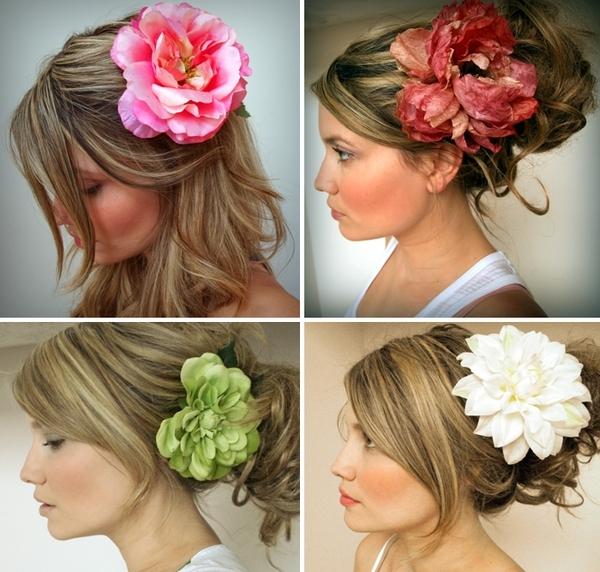 Искусственные цветы своими руками на голову