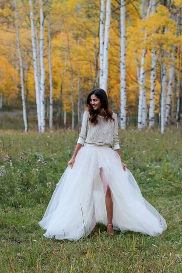 Свадебное платье свитер