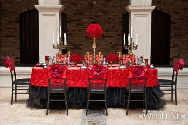 Испанский стиль - много красного и черного цвета