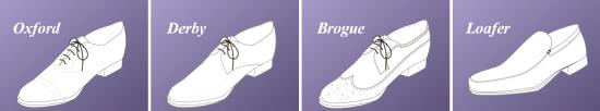Основные фасоны свадебной мужской обуви