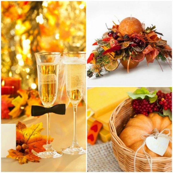 Осенняя свадьба - буйство красок
