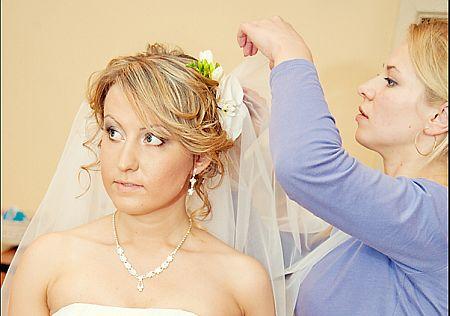 Создание свадебной прически