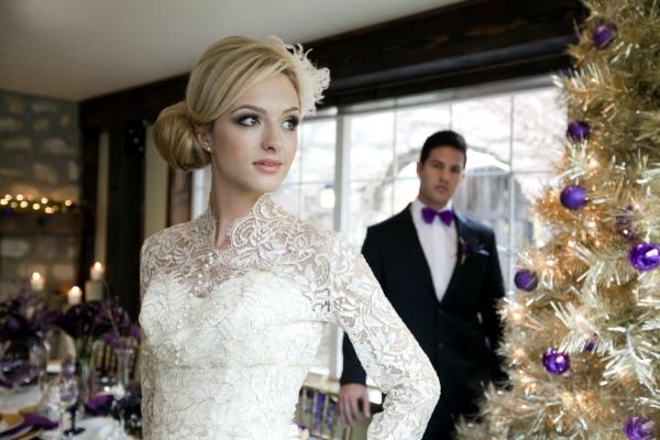 Рождественский колорит зимней свадьбы