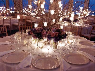Украшение свадебного стола свечами