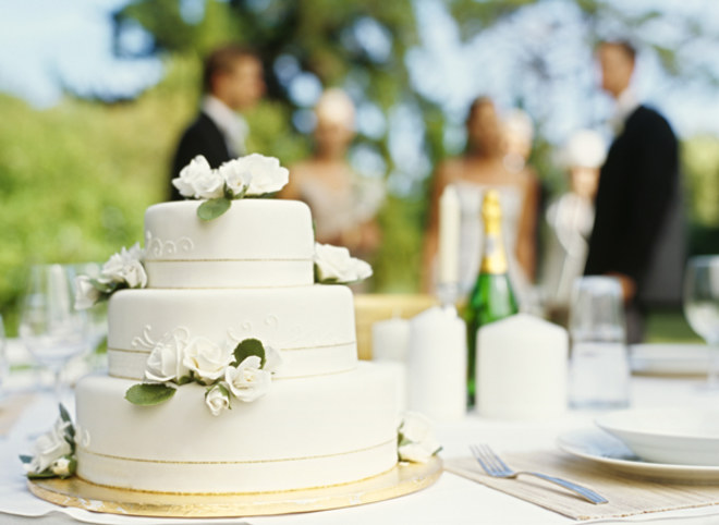 Классический свадебный торт