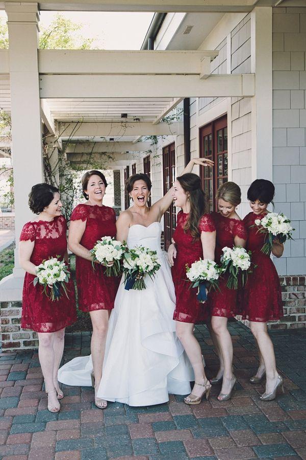 Платья в одном стиле для подружек невесты