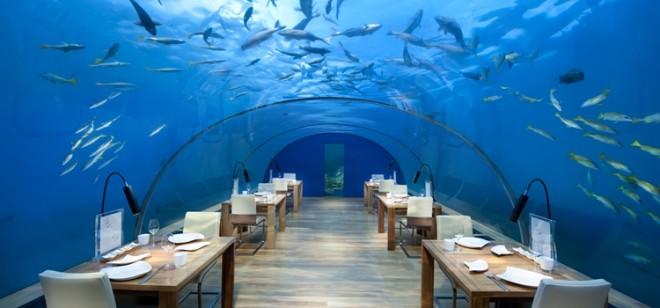Необычный ресторанчик на Мальдивах