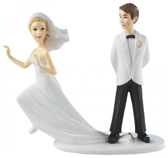 Смешные фигурки на свадебный торт