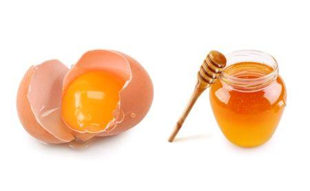 Питательная маска из желтков и меда