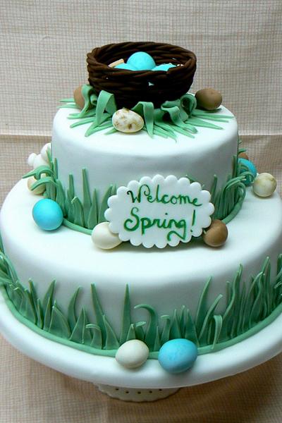 Свадебный торт с пасхальными мотивами