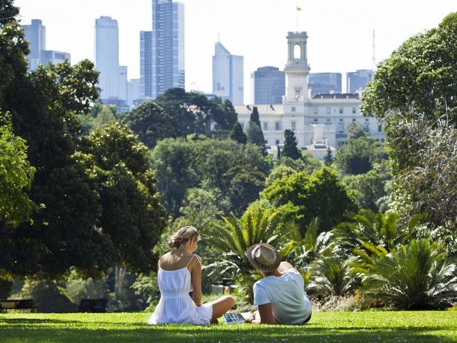 Романтический пикник в парке