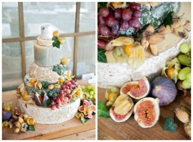 Свадебный торт из нескольких сортов отменного сыра