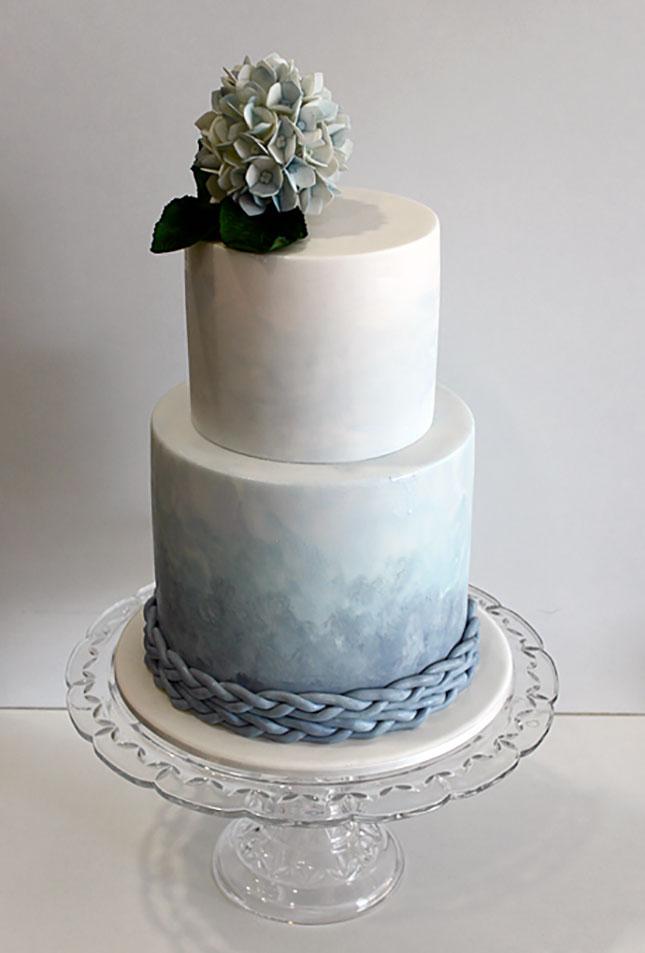 Акварельный свадебный торт