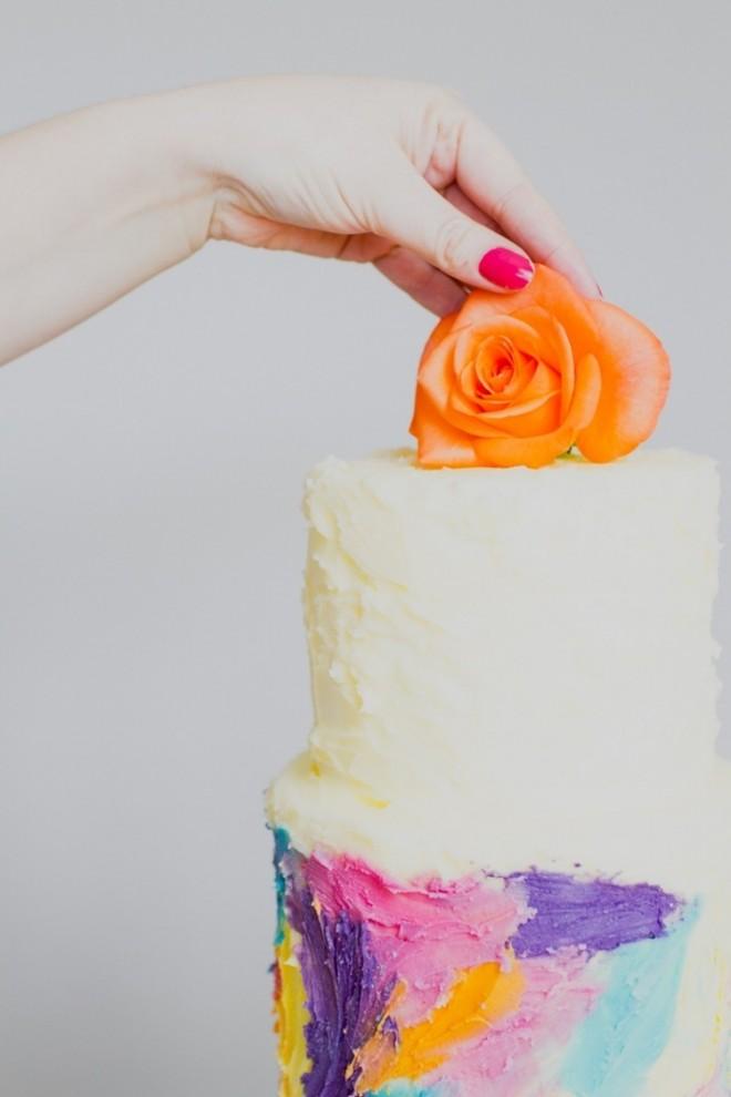 Креативное украшение свадебный торт