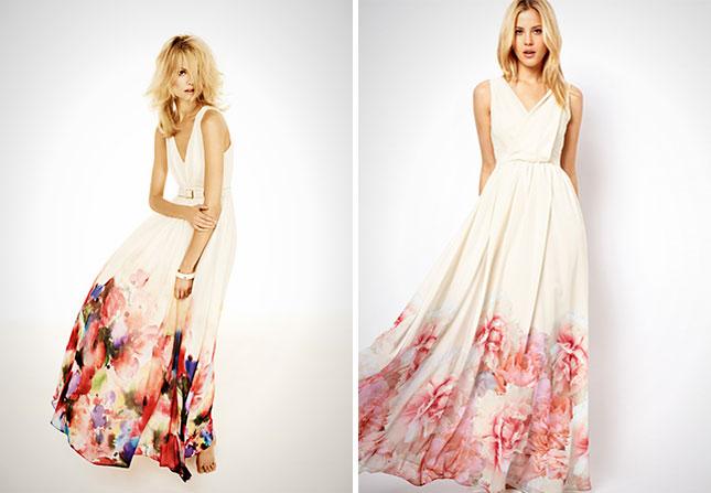 Платье невесты пастельной росписью