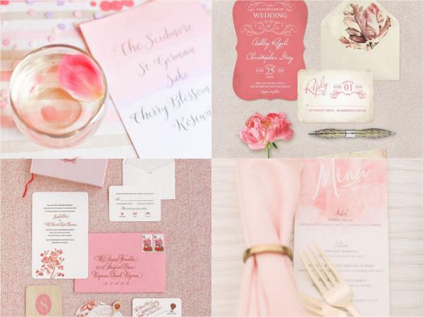 Свадебное меню и приглашения
