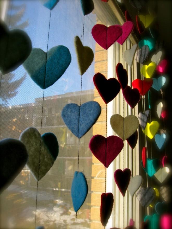 Гирлянды из сердец