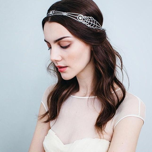 Свадебная прическа с распущенными волосами