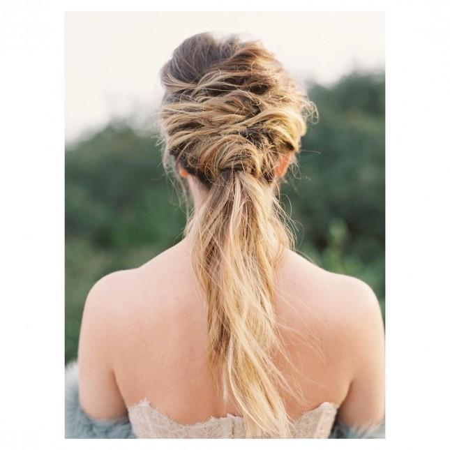 Свадебная прическа с французской косой