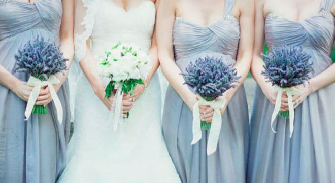 Букеты из лаванды для подружек невесты