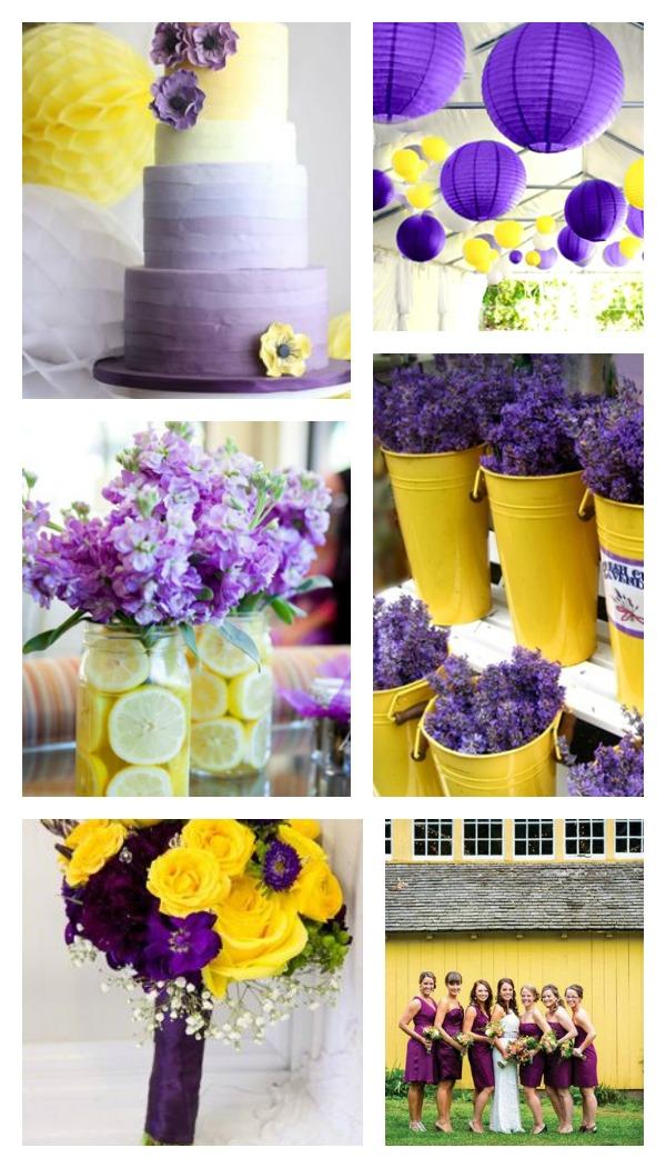 Лимонно-желтый с фиолетовым