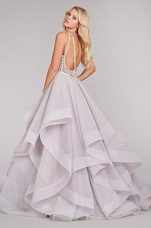 Нежно-сиреневое платье невесты