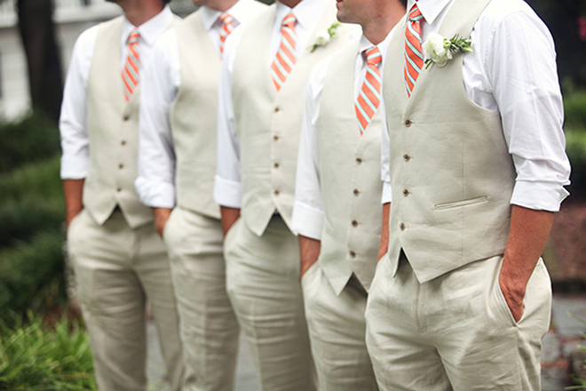 Яркие галстуки для друзей жениха