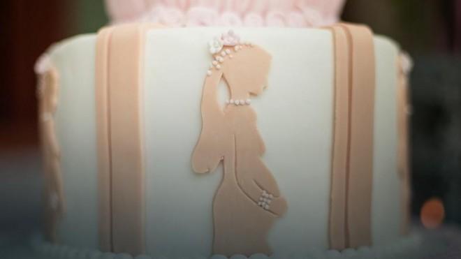 Свадебный торт для будущей мамочки