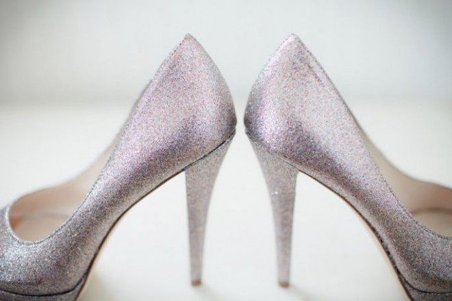 Туфли невесты лавандового оттенка