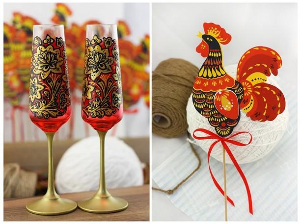 Расписные бокалы для жениха и невесты