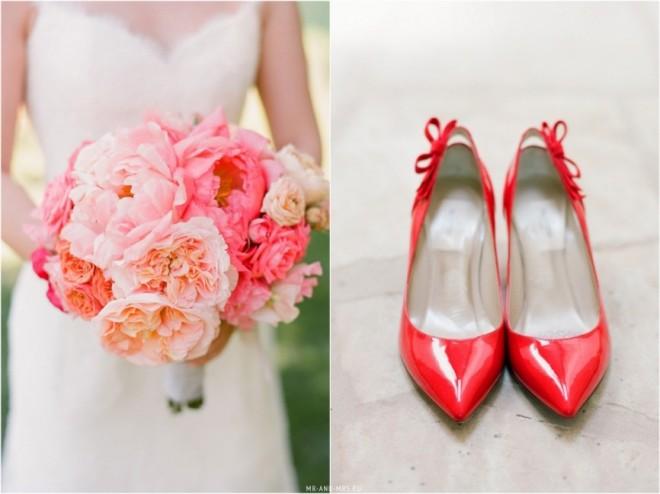 Свадебный букет т туфли в одной цветовой гамме