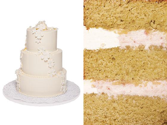 Средний торт с зеленым чаем с малиновым вкусом с ванильным кремом