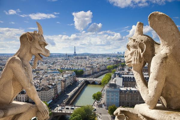 Вид на Париж с собора Нотр Дам