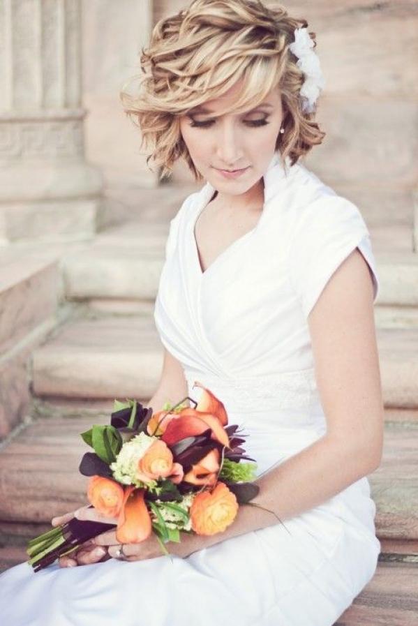 Свадебные аксессуары для причесок на короткие волосы