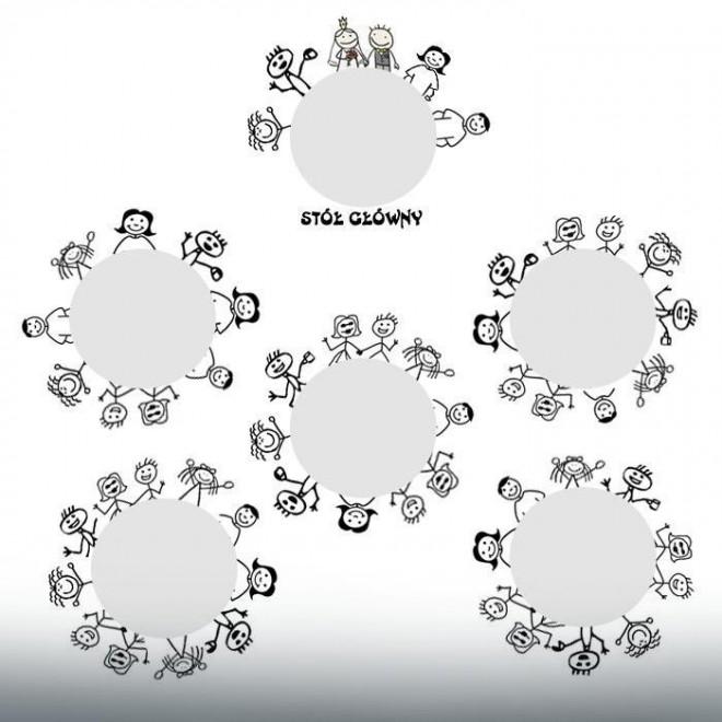 Как расставить круглые столы