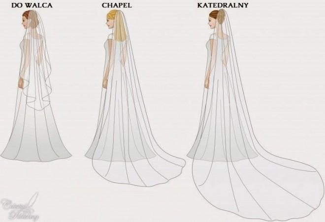 Длинные модели свадебных вуалей