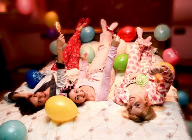 Пижамная вечеринка для подруг