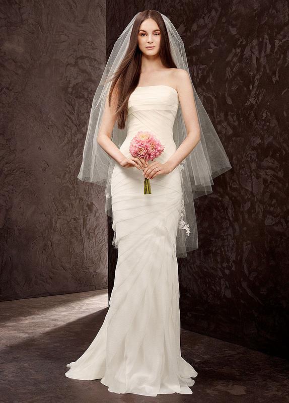 Свадебная фата средней длинны