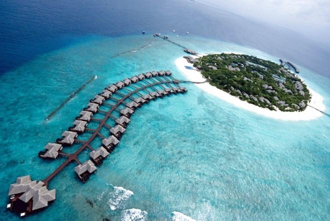 Симпатичные бунгало на Мальдивах