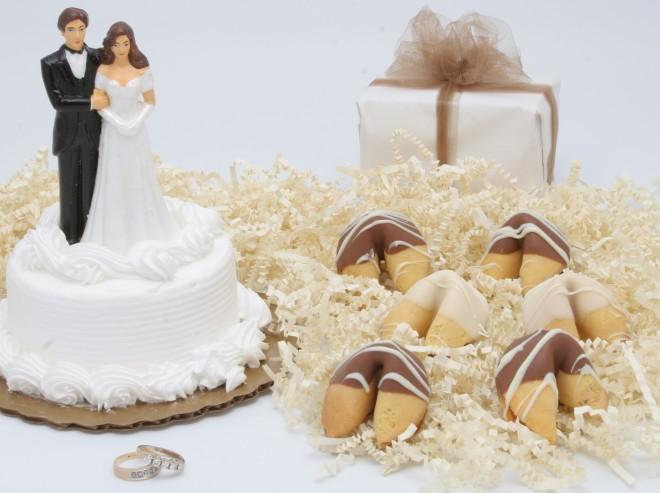 Печенье с предсказаниями на свадьбе