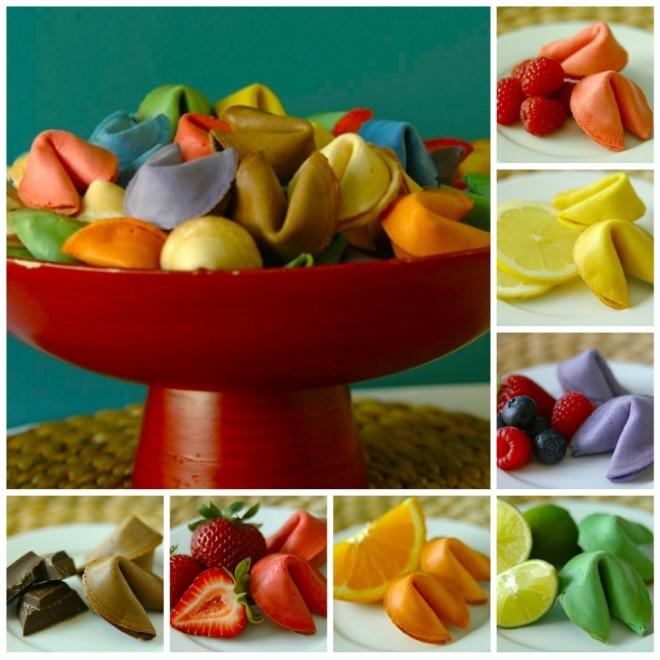 Разноцветное печенье с предсказаниями