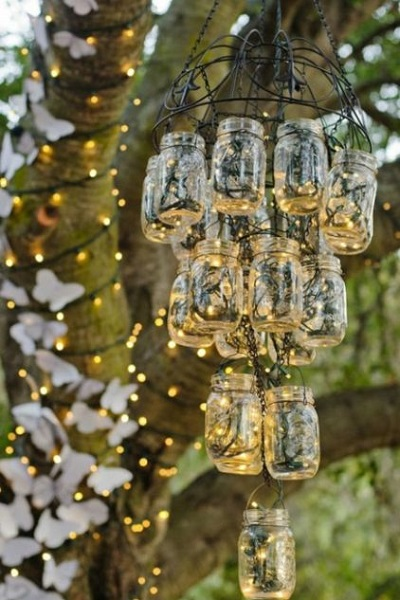 Украшение свадебного пространства новогодними гкрляндами