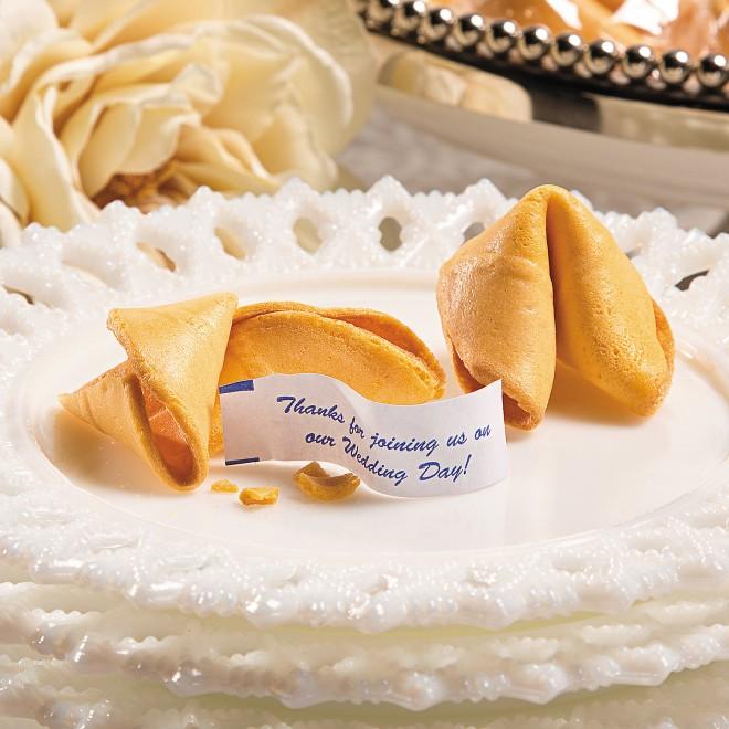 Печенье - приветствие для свадебных гостей